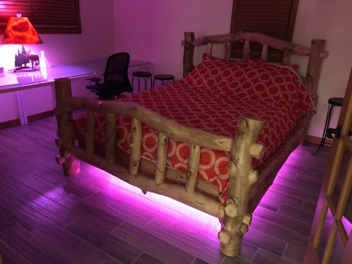 Upstairs Bed RGB Lighting - Pink