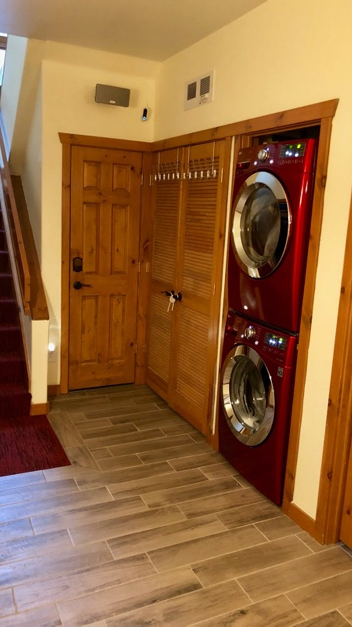 Cherry Red Washer & Dryer