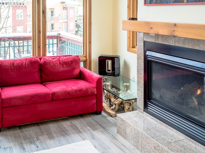 Loveseat & Fireplace